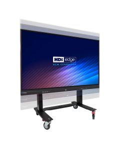 HDi Edge Screen & Electric-Height Adjustable Trolley in Large